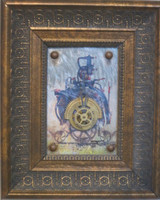 "Dagoberto Driggs Dumois #8092  Untitled, ND. Mixed media, Framed, 11"" x 9 inches."