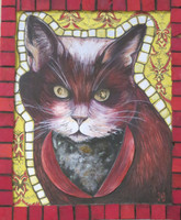 Jacqueline Brito Jorge #6324 Untitled, 2003. Mixed media/oil on canvas. 12 x 10 inches.
