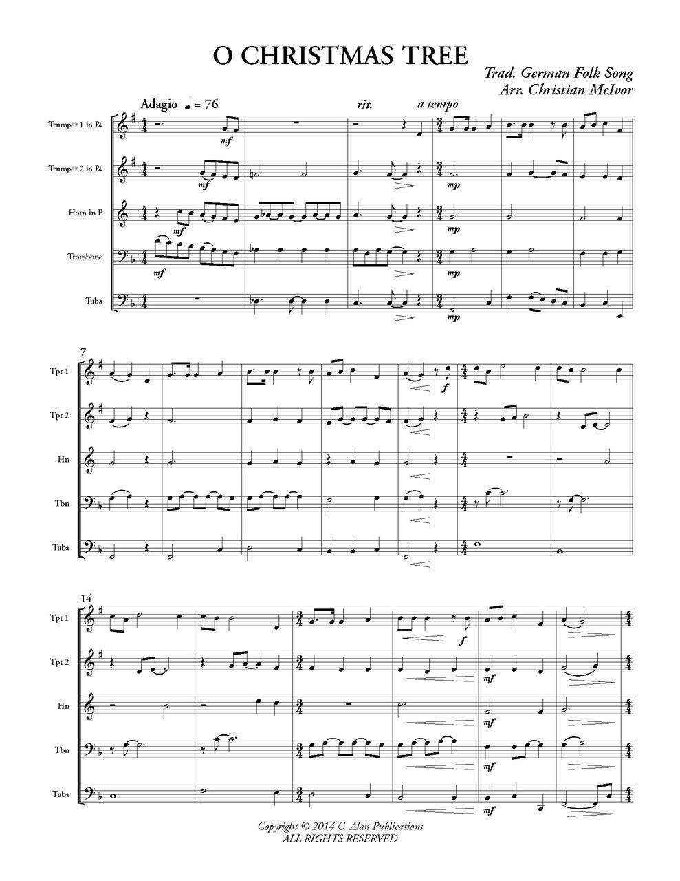 o christmas tree sheet music - Heart.impulsar.co