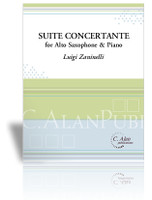 Suite Concertante for Alto Saxophone & Piano