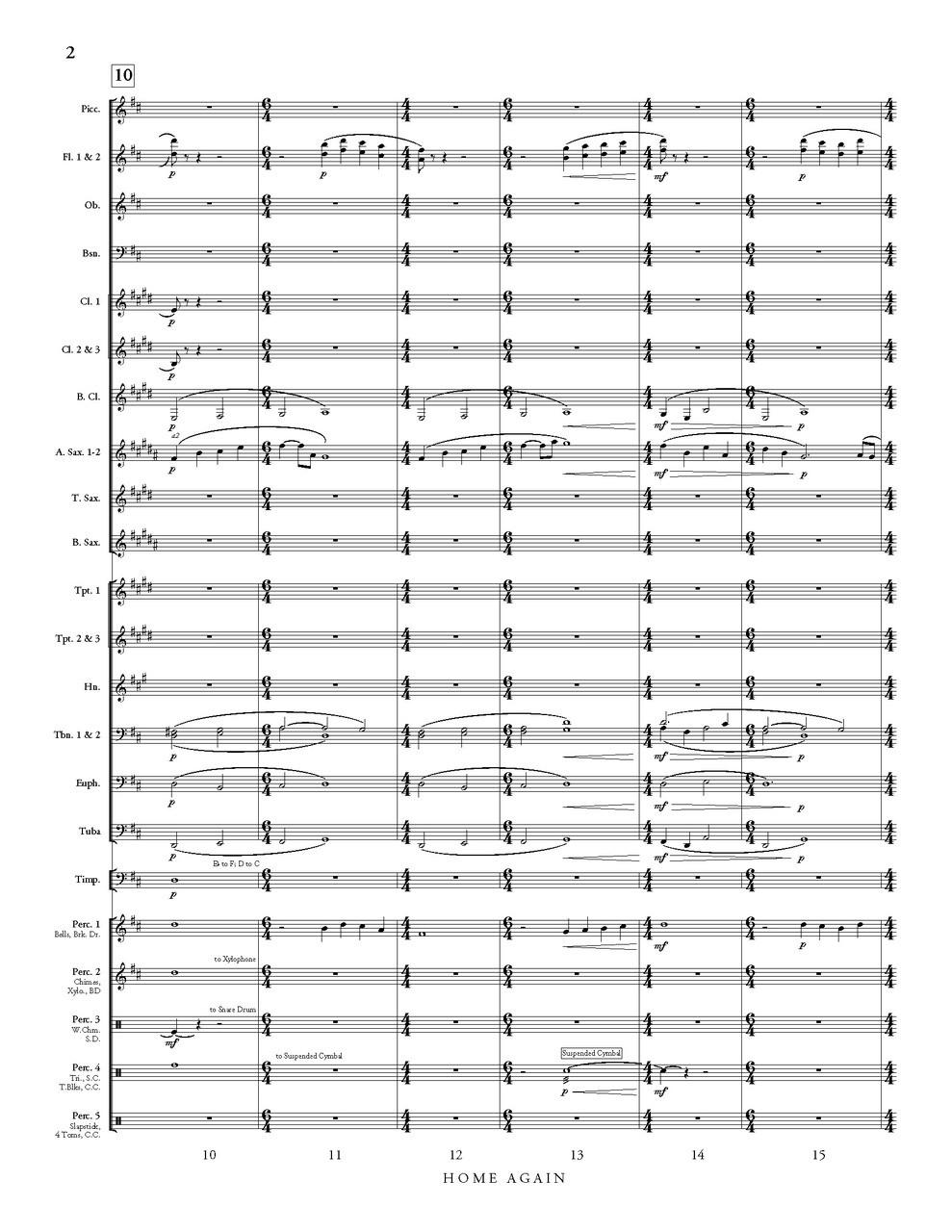 Home Again (concert band gr. 3.5) - David R. Gillingham