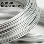 20-gauge Silver-Filled Round Wire, dead soft