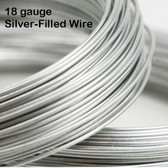 18-gauge Silver-Filled Round Wire, dead soft