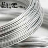12-gauge .925 Sterling Silver Wire, round, dead soft