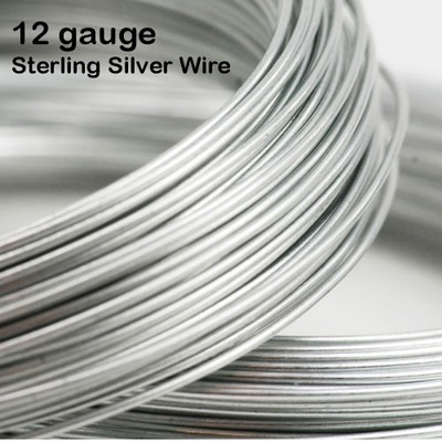 12-gauge .925 Sterling Silver Wire, round, dead soft