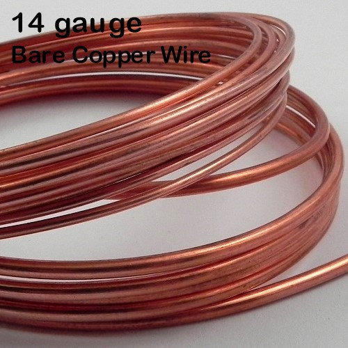 14-gauge Bare Copper Round Wire, dead soft - WubbersU Shop