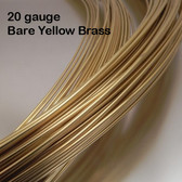 20-gauge Bare Yellow Brass Round Wire, dead soft