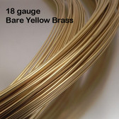 18-gauge Bare Yellow Brass Round Wire, dead soft
