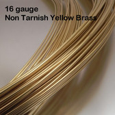 16-gauge Non Tarnish Yellow Brass Round Wire, dead soft
