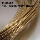 14-gauge Non Tarnish Yellow Brass Round Wire, dead soft