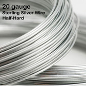 20 gauge Sterling Silver Wire, Half-Hard