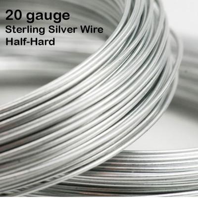 20 gauge Sterling Silver Wire, Half-Hard