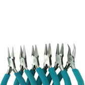 Classic Wubbers Pliers: Round Nose, Chain Nose, Narrow Flat Nose, Medium Flat Nose, Wide Flat Nose, and Bent Nose