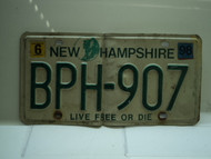 1998 NEW HAMPSHIRE Live Free or Die License Plate BPH 107