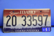 2006 IDAHO ScenicFamous Potatoes License Plate 20 33597