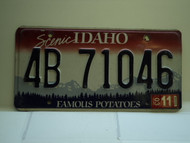 2003 IDAHO Famous Potatoes License Plate 4B 71046 1