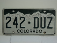 COLORADO License Plate 242 DUZ