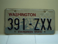 Washington Evergreen State License Plate 391 ZXX