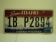 2010 IDAHO Scenic Famous Potatoes License Plate 1B P2894