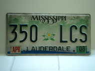 2008 MISSISSIPPI Magnolia License Plate 350 LCS