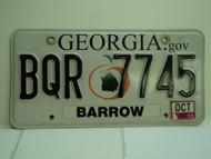 2013 GEORGIA License Plate BQR 7745