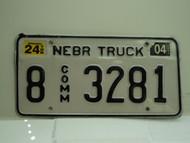 2004 NEBRASKA Commercial Truck License Plate 8 3281