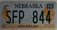 2012 Jun Nebraska SFP 844 License Plate