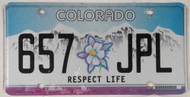 Colorado Respect Life 657 JPL License Plate