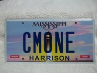 Mississippi Harrison Vanity CMONE License Plate