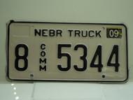 2004 NEBRASKA Commercial Truck License Plate 8 5344