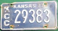 1975 Johnson Kansas License Plate JO C 11266