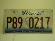 ILLINOIS Land of Lincoln License Plate P89 0217