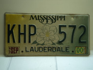 2000 MISSISSIPPI Magnolia License Plate KHP 572