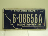 2010 MONTANA Treasure State License Plate 6 28656A