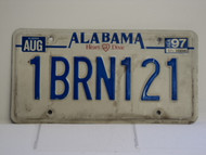 1997 ALABAMA Heart of Dixie License Plate 1BRN121