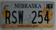 2012 Jan RSW 254 Nebraska License Plate