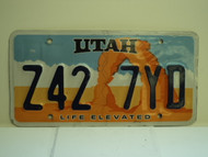 UTAH Life Elevated License Plate Z42 7YD