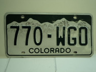 COLORADO License Plate 770 WGO