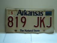 2009 ARKANSAS Natural State License Plate 819 JKJ