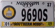 2009 Jan Mississippi Southern Miss License Plate