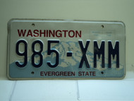 Washington Evergreen State License Plate 985 XMM