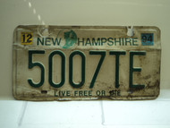 1994 NEW HAMPSHIRE Live Free or Die License Plate 5007TE