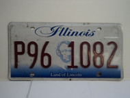 ILLINOIS Land of Lincoln License Plate P96 1082