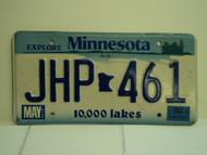 2003 MINNESOTA Explore 10,000 Lakes License Plate JHP 461