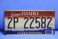 2005 IDAHO Scenic Famous Potatoes License Plate 2P 22582