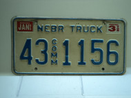 1995 NEBRASKA Commercial Truck License Plate 43 Comm 1156