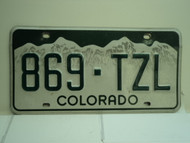 COLORADO License Plate 869 TZL