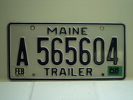 2002 MAINE Trailer License Plate KA 565604