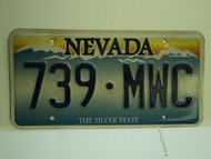 NEVADA Silver State License Plate 739 MWC