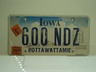 2006 IOWA License Plate 600 NDZ